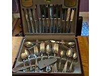 Silver Cutlery Canteen 44 piece.