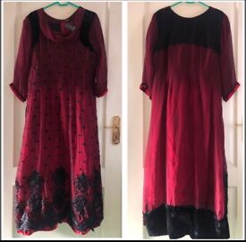 Beautiful Asian dress - Maroon and Black, Eid, Party, Occasion
