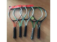 Junior steel alloy tennis rackets - new