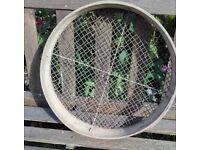 Vintage wooden garden sieve/riddle