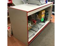 Shop display counter and baskets