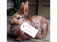 Large stone Rabbit Garden ornament xmas