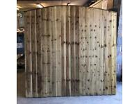 🌷Pressure Treated Arch Top Feather Edge New Fence Panels • Heavy Duty