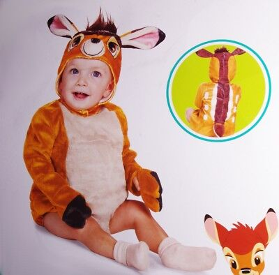 Disney BAMBI Baby Boys Girl Cute Deer Halloween Purim Costume 6 12 18 Months NEW
