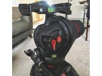 Manfrotto Tripod and Photo/ Movie Head + bag