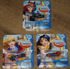 3 HotWheels Character Cars (DC Super Hero Girls)