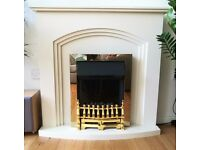 Modern fireplace surround for electric fire (with elec fire for repair / parts / spares)