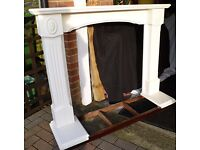 FIRE SURROUND - PAINTED (CREAM) SOLID WOOD