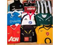 FOOTBALL RUGBY SHIRTS TOPS X 27