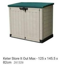 Keter store it out side maxi plastic garden shed
