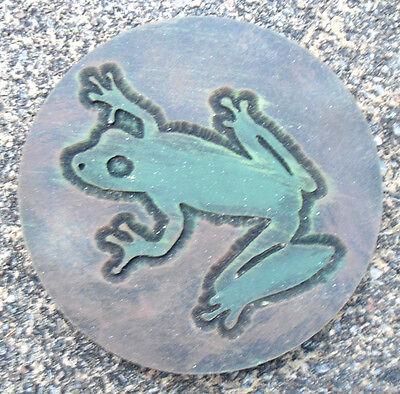 Tree frog plaque plastic mold for plaster concrete mould