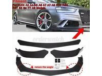 Audi A3 front splitter 3 piece
