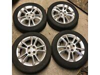 Vauxhall Corsa D SXi 2009 Set of 4 Alloys & Tyres