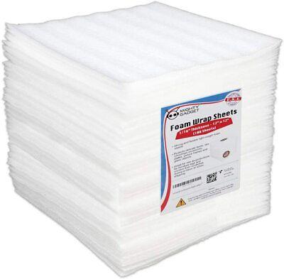 100 Pack Mighty Gadget R 12 X 12 X 116 Foam Wrap Cushioning Sheets