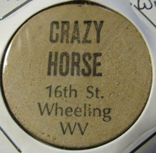 Vintage Crazy Horse Wheeling, WV Wooden Nickel - Token West Virginia