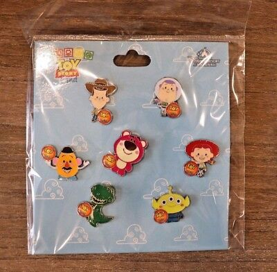Disney Pin Toy Story Land Booster Shanghai Set Woody Buzz Jessie Lotso Mr Potato