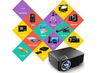 AS NEW,GooBang Doo T20 -1500 Lumens,Portable Mini Video Projector 1080P