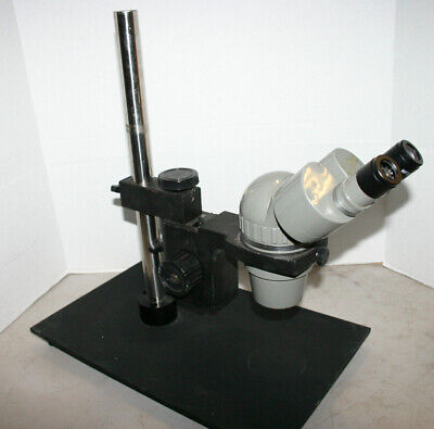 Olympus Sz Stereozoom Microscope 9-40x On Pole Stand