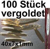 100x Piastra Incisione Cinturino Placcato Oro Gioielleria Orafo Catena Di Su - catena - ebay.it