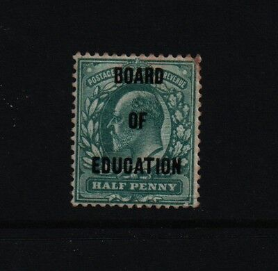 1902 1/2d  BLUE GREEN OVERPRINT BOARD OF EDUCATION SG 091 £375 MM STAMP