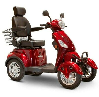 eWheels EW-46 4 Four Wheel RED Electric Mobility Scooter 13MPH 35 Miles NO TAX ()