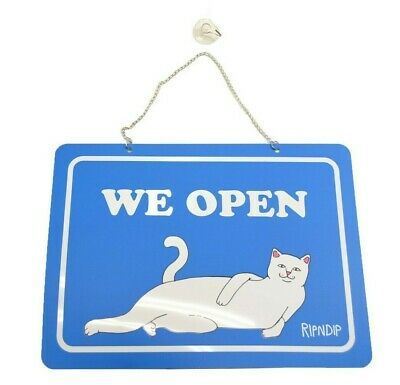Ripndip Openclosed Sign Kit Blue Nermal Rnd01sign Retail Only Storefront Sign