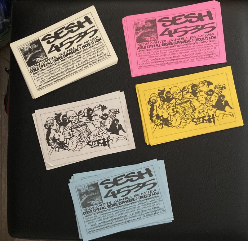 Vintage Hip Hop Rap Album Flyer Card NYC UNDERGROUND MUSIC SESH New 5