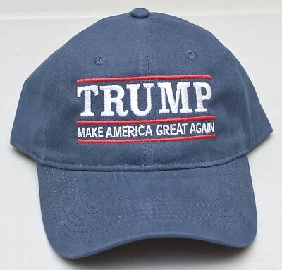 MAKE AMERICA GREAT AGAIN -Donald Trump Hat Republican 2016- 100% Cotton Navy Cap