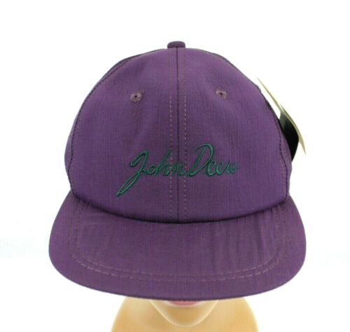 VINTAGE NWT K PRODUCTS JOHN DEERE PURPLE EMBROIDERED LETTER SNAPBACK TRUCKER HAT