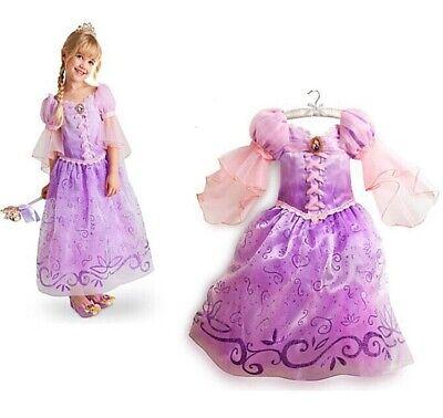 Kinder Kostüm Rapunzel Kleid Lila Pink Mädchen Prinzessin - Kinder Verkleiden