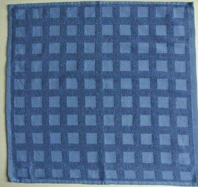 2 Stück Frottier-Geschirrtücher blau/kariert Bio-Baumwolle ca. 50 x 53 cm NEU
