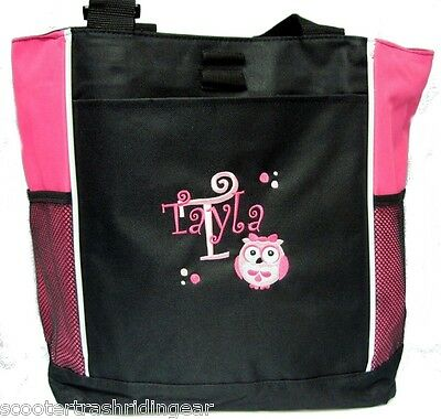 PERSONALIZED Girl Owl Pink Diaper Bag baby Tote beach book monogrammed New  (Personalized Baby Girl Diaper Bags)