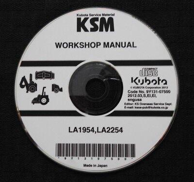 Genuine Kubota La1954 La2254 1954 2254 Front Loader Service Repair Manual On Cd