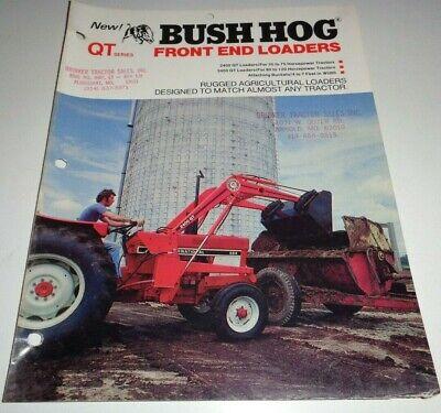 Bush Hog 2400 Qt 3400 Qt Loader Sales Brochure Literature
