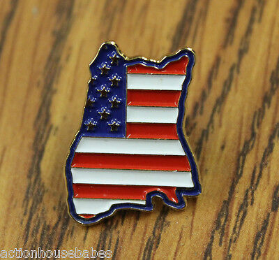 HOOTERS RESTAURANT COLLECTABLE UNITED STATES OF AMERICA FLAG HOOTIE LAPEL PIN