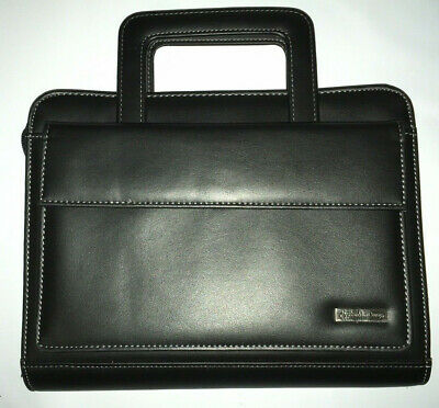Franklin Covey Classic Planner Briefcase 7 Ring Pocket Handles Card Holder