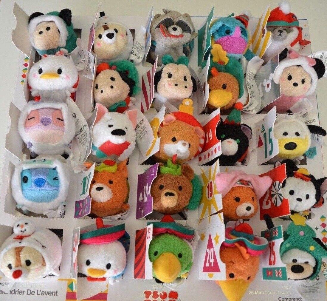 2018 Disney Store Tsum Tsum Plush Advent Calendar