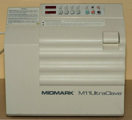 Midmark M11 UltraClave M11-002 Instrument Steam Sterilizer Autoclave W/ 3 Trays