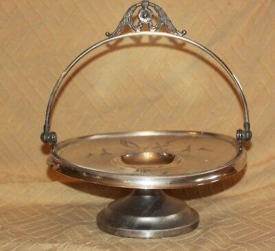 Antique Victorian Vanbergh Brides Basket Centerpiece Bowl Silverplate Dish