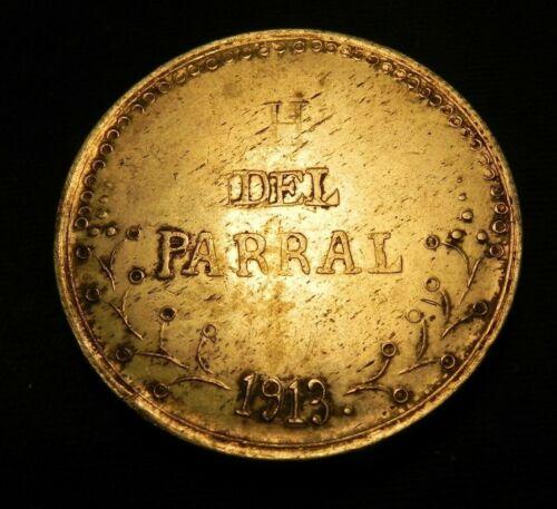 1913 Mexico RARE $1 Peso Silver Revolutionary Hidalgo Del Parral Chihuahua
