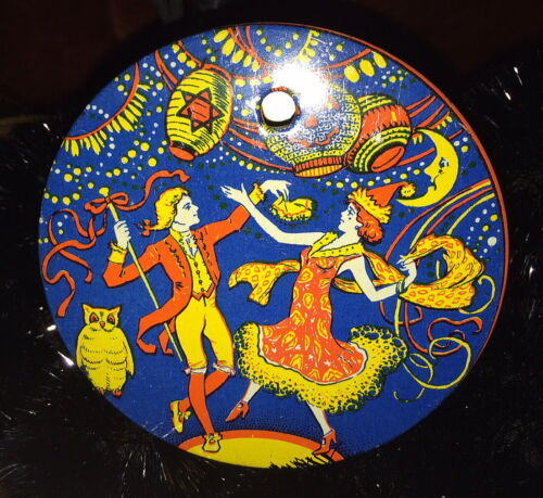 Awesome 1920s  Halloween Party, J. Chein Tin Ratchet, Fabulous Color Graphics