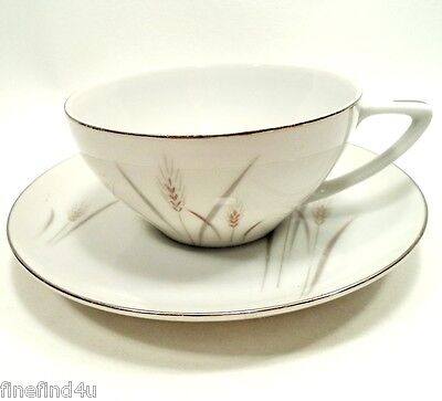 Platinum Wheat by Fine China Japan Set(s) of Cup & Saucer Ships FREE