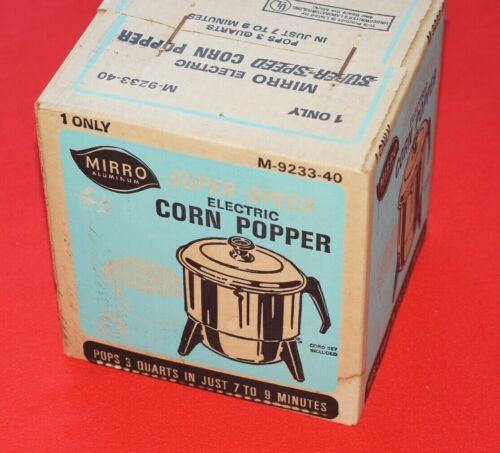 Vintage Mirro M-9233-40 3 Quart Electric Corn Popper Brand New Sealed