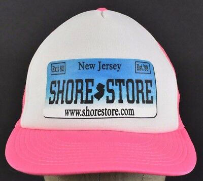 Pink New Jersey Shore Store Exit 82 1998 Trucker hat cap Adjustable Snapback (Adult Stores Nj)