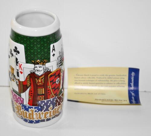 Budweiser Stein 2006 Poker Cards & Chips Anheuser -Busch Collection