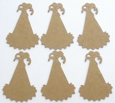 (5) PARTY HATS -  Bare Unfinished Chipboard Die Cuts - 2