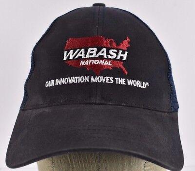 Navy Blue Wabash National Manufacturing Embroidered Baseball Hat Cap Adjustable