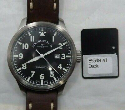 ZENO-WATCH BASEL:OS Pilot Black Dial ETA 2836 Ref. 8554 Mens Watch (T1483) Zeno New Pilot