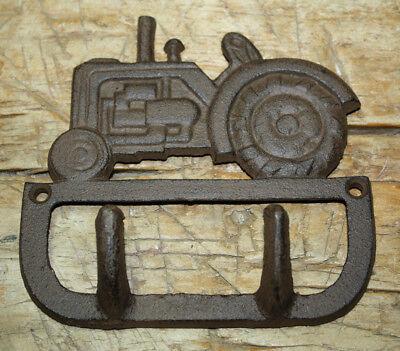 Cast Iron Antique Style TRACTOR Coat Hooks Hat Hook Rack Towel FARM BARN Ranch