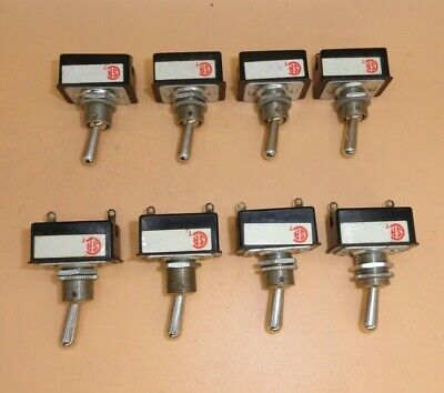 Toggle Switch Momentary On-off 2 Position Spst 6a 125v Lot Of 8